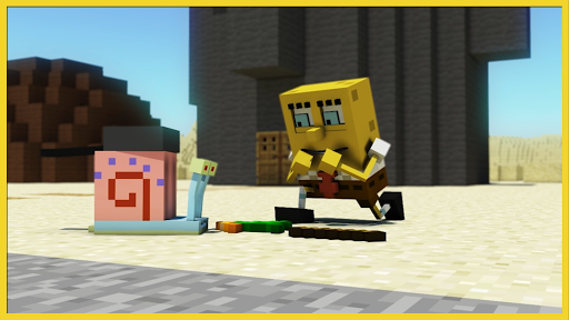 screenshot Bikini Bottom 3D Mod for MCPE.$41329
